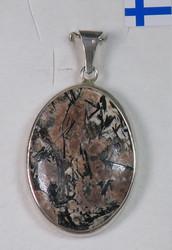 Riipus: Astrofylliitti, ovaali kivi 19x25mm (c) Unikki!