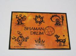 Postikortti shaman drum noitrumpukuvia