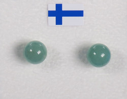 Nappikorvakorut aventuriini vihreä 6mm
