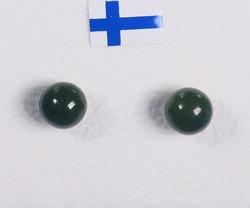 Nappikorvakorut nefriitti - jade 6mm