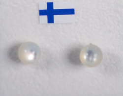 Nappikorvakorut helmiäinen natural 6mm