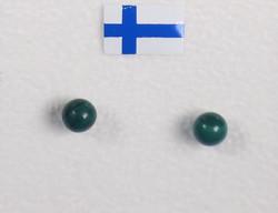 Nappikorvakorut malakiitti 4mm