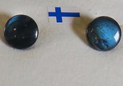 Klipsikorvakorut spektroliitti 10mm, 925-hopea, DB