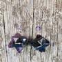 Korvakorut fluoriitti tähti zirkonikoristein tummanvioletti 8s1