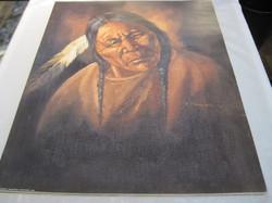 Juliste intiaani vanhus 40x50cm