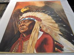 Juliste intiaanipäällikkö ja kotka  40x50cm