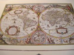 Juliste maapallo karttajuliste, kuvitettu tausta 40x50cm