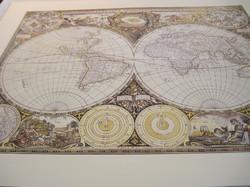 Juliste maapallon kartta, astrologiaa F.De Wit 40x50cm