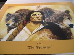 Juliste intiaani ja kaksi karhua The Bearman 40x50cm