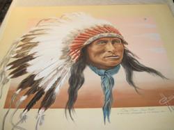 Juliste Intiaanipäällikkö One Star Sioux v.1900, 40x50cm