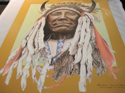 Juliste Two Moons Cheyenne Intiaanipäällikkö v.1911,  40x50cm