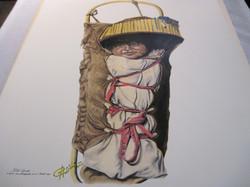 Juliste Apache baby intiaani lapsi 40x50cm