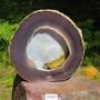 Akaattigeodi 1,8kg, litteä, jossa sisällä kalsedoni maisema