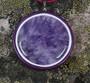 Riipus: Ametistiriipus, kivi 4cm, violetti/valkoisin nahkasomistein (ri41N5) Unikki!