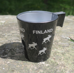 Espressokuppi Hirvi Finland, 8cl väri musta