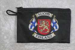 Kukkaro- pussukka Suomileijona, suomenliput
