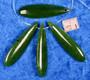 Nefriitti pisara vihreä 40mm, porattu reikä yläosassa, korutarvike