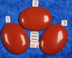 Kapussi punainen jaspis 30x40mm ovaali cabochon
