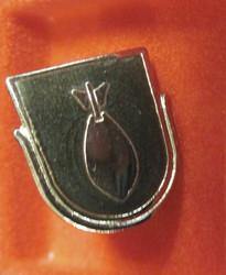 Pinssi Kranaatinheitin KRH armeijan koulutushaara rintamerkki