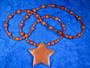 Helmet kultavirta ja oranssi aventuriini tähtihelmet 60cm. Star1