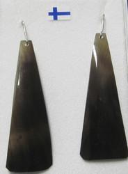Korvakorut: Poronkynsikorvakorut (kopara), pituus n. 5cm + koukut 925-hopea