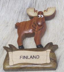 Magneetti: Hirvi, Finland, puuta