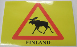 Postikortti Hirvivaroitus merkki, Finland