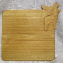 Lasinalunen Poro, haapapuuta, koko n.9,5x9,5cm