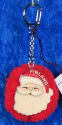 Avaimenperä joulupukki, Finland, lankatupsu-pompom