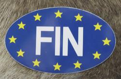 Tarra EU-tähdet, FIN,  ovaali 6x10cm