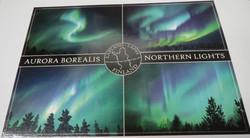 Postikortti revontulet, Aurora borealis, Northern lights, 4 kuvaa
