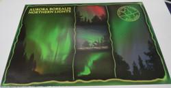 Postikortti revontulet, Aurora Borealis, Northern lights, 3 kuvaa
