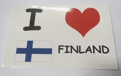 Postikortti I love Finland