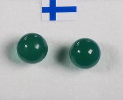 Nappikorvakorut akaatti vihreä 8mm