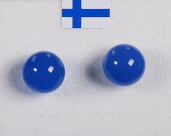 Nappikorvakorut akaatti sininen 8mm