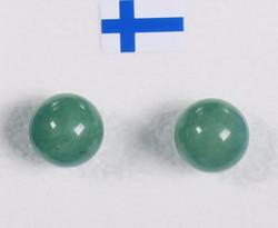 Nappikorvakorut aventuriini vihreä 8mm