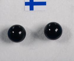 Nappikorvakorut onyksi onyx musta  8mm