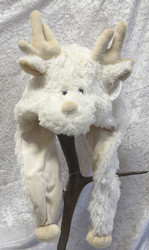 Hattu Poro talvihattu L-XL vaalea, jalat 30cm