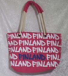 Kassi: Canvas Bag 30x38cm, vahvat sangat/ pink