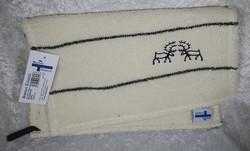 Pyyhe/pefletti: 'kallioporot' koivu, pellavafroteeta 35x45cm
