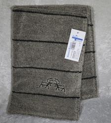Pyyhe: 'kallioporot' kataja, pellavafroteeta 50x75cm