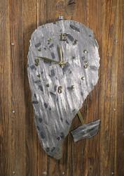 Heilurikello hopealoimuliuske seinäkello 38x20cm nro 349-1