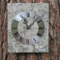 Seinäkello marmori 25x30cm harmaankirjava nro 337-1