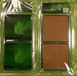Lasinaluset: Revontulet, 9x9cm, pakkauksessa 2 kpl (coasters)