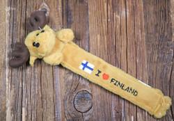 Kirjanmerkki: Pehmohirvi, I love Finland, 20cm