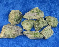 Diopsidi raaka vihreä kromidiopsidi L-koko