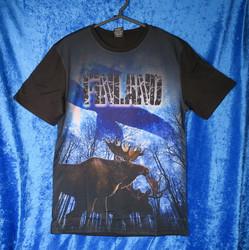T-paita Finland, suomenlippu, hirvet