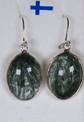Korvakorut: klinokloori, ovaali, 925-hopea-silver