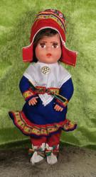 Nukke Lapinnukke 29 cm tyttö sinisessä lapinpuvussa