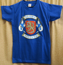 T-paita Suomileijona vaakuna, suomen lippu, Suomi, Finland koko XXL